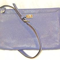 New Coach 49992 Madison Leather E/w Swingpack Crossbody Sv/lacquer Blue Nwt 158 Photo