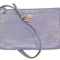 New Coach 49992 Madison Leather E/w Swingpack Crossbody Sv/lacquer Blue Nwt 158 Photo