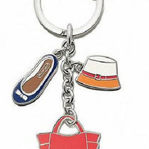 New Coach 65743 Purse Hat Shoe Charms Key Ring Key Fob Photo