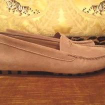 New Coach 'Amber' Suede Leather Camel Moccasin Loafer Shoes Size 8  Photo