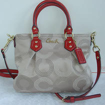 New Coach Ashley Dotted Op Art Mini Tote Purse F20343 Photo