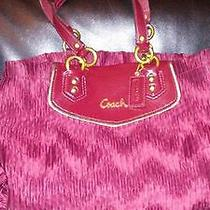 New Coach Ashley Gathered Satin Carryall Tote Purse Bag Authentic 398 Photo