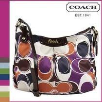New Coach Ashley Hand Drawn Scarf Print Swingpack Crossbody Bag F48055 Rare Photo