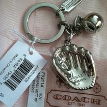 New Coach Baseball Mitt Key Chain Ring Fob 93114 Photo