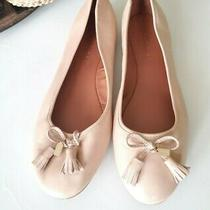 New Coach Bea Nude Leather Flats Shoes  Women's Size 8.5 Beechwood Comfort Style Photo