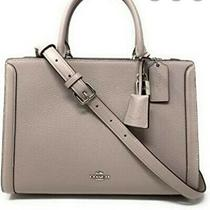 New Coach Birch Gray Crossbody Handbag Leather Satchel Purse Bag  Photo