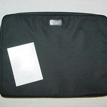 New Coach Black Trans Nylon Computer Laptop Sleeve F70371 Photo