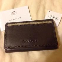 New Coach Brown Leather 6 Ring Key/card Case Wallet. -Nwt- Photo