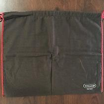 New Coach Brown With Red Drawstring Dust Bag 16