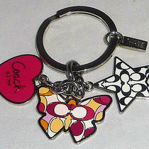 New Coach Butterfly Heart Star Multi Mix Key Ring Fob Purse Charm Photo