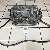New Coach Campbell Exotic Leather Grey Camera Bag F24849 Photo