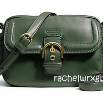 New Coach Campbell Leather Camera Bag Crossbody Handbag F25150 Racing Green Nwt Photo