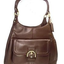 New Coach Campbell Leather Hobo Bag - Mahogany Brown Photo