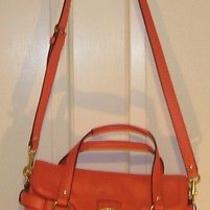 New - Coach Campbell Leather Satchel  F27231 Small Flap - Hot Orange - Msrp 398 Photo