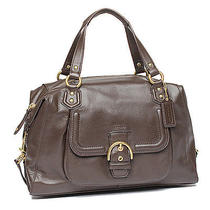 New Coach Campbell Mahogany Leather Satchel Shoulder Bag Handbag Purse Photo