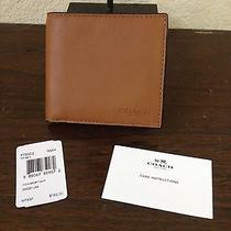New Coach Coin Sport Leather Mahogany Brown Men's Wallet Cardholder 888067859072 Photo