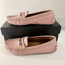 New Coach Crosby Driver Signature Petal Pink Leather Loafers Flats Size 7.5 M Photo