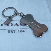 New Coach Dog Bone Key Chain Ring Fob 92980 Photo