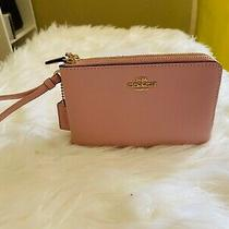 New Coach Double Corner Zip Wristlet F87590 F87591 Photo