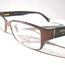 New Coach Eyeglasses Coach Hc 5031 Spenser Satin Brown 9076 Authentic 51-16-135 Photo