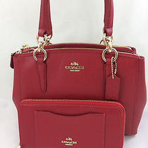 New Coach F36704 Mini Christie Carryall Satchel Handbag Purse Bag Red  Wallet Photo
