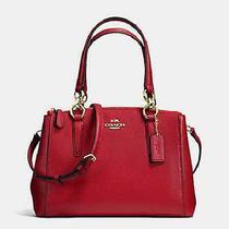 New Coach F36704 Mini Christie Carryall Satchel Handbag Purse Shoulder Bag Red Photo