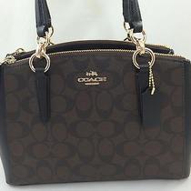 New Coach F36718 Mini Christie Carryall Satchel Handbag Purse Shoulder Bag Pvc Photo