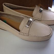 New - Coach Fredrica Womens White Cream Leather Loafers Dress Shoes Size 8 -250 Photo