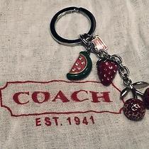 New Coach Fruits Strawberry Watermeloncherry Keychain Key Ring Photo