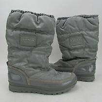 New Coach Grey Signature Monogram Rain/snow Boot Women's Sz 10m Rtl200 Photo