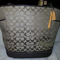New Coach Handbag Sv/khaki/ Mahogany F23295 Photo