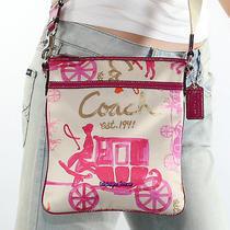 New Coach Horse & Carriage Shoulder Bag Crossbody Swingpack F43813 Rare  Photo