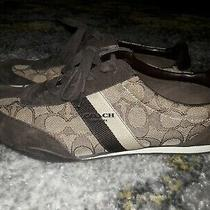 New Coach Kelson  Women's Sneakers Shoes Outline Signature / Suede Size 8.5 B Photo