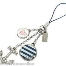 New Coach Lanyard Nautical Cell Phone Purse Bag Charm Key Chain Ring Fob 92908 Photo
