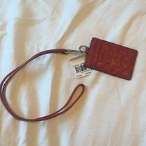 New Coach Lanyard Sunset Red Photo