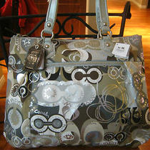New Coach Limited Edition Poppy Khaki Multicolor Pop Glam Tote Bag Handbag 18342 Photo