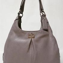New Coach Madison Grey Quartz Leather Maggie Shoulder Bag Purse 21225m Htf Photo