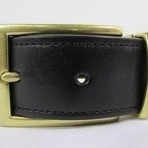 New Coach Men Belt Brown Black Reversible Genuine Leather Gold Buckle Gentlemen Photo