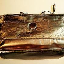 New Coach Metallic Gold Laptop/diaper Tote Bag Purse Handbag Photo