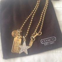 New Coach Multi Mix 6 Star Charm Necklace Photo