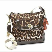 New Coach Park Ocelot Print Swingpack Crossbody Bag Mahogany/ Multi 148 Photo
