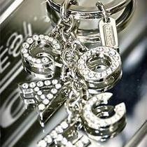New Coach Pave Swarvoski Crystal Letters Mix Keychain Key Ring Fob Charm 1k03 Photo