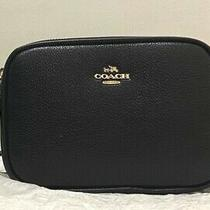 New Coach Pebble Leather Small Black Crossbody Photo