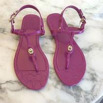 New Coach Pink Jelly Sandals Size 8 or 38 Photo