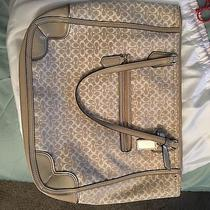 New Coach Poppy Signature Metallic Outline Tote Photo
