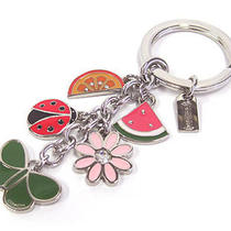 New Coach Rare Summer Mix Butterfly Ladybug Flower Watermelon Key Chain Ring Fob Photo
