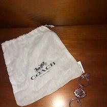 New Coach Rose Gold Pave Valet Keychain Key Fob Keyring Photo