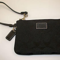 New Coach Signature C Black Iphone 4s 5 Wallet Wristlet 48640 Free Shipping Photo