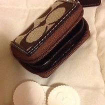 New Coach Signature C Mahogany Brown Contact Lens Case (F65944) Photo