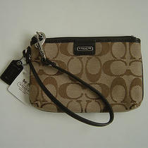 New Coach Signature Logo Wristlet Handbag 48640b Iphone/blackberry Phone Cover Photo